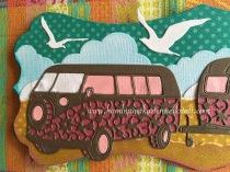 Der 'Camper Van' und 'Caravan' von Tattered Lace mussten einfach an einem Strand stehen