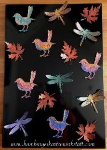 Vögel - Libellen - Blätter