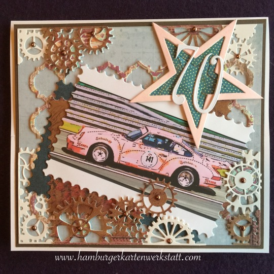 Geburtstagskarte Porsche 1