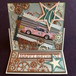 Geburtstagskarte Porsche 2