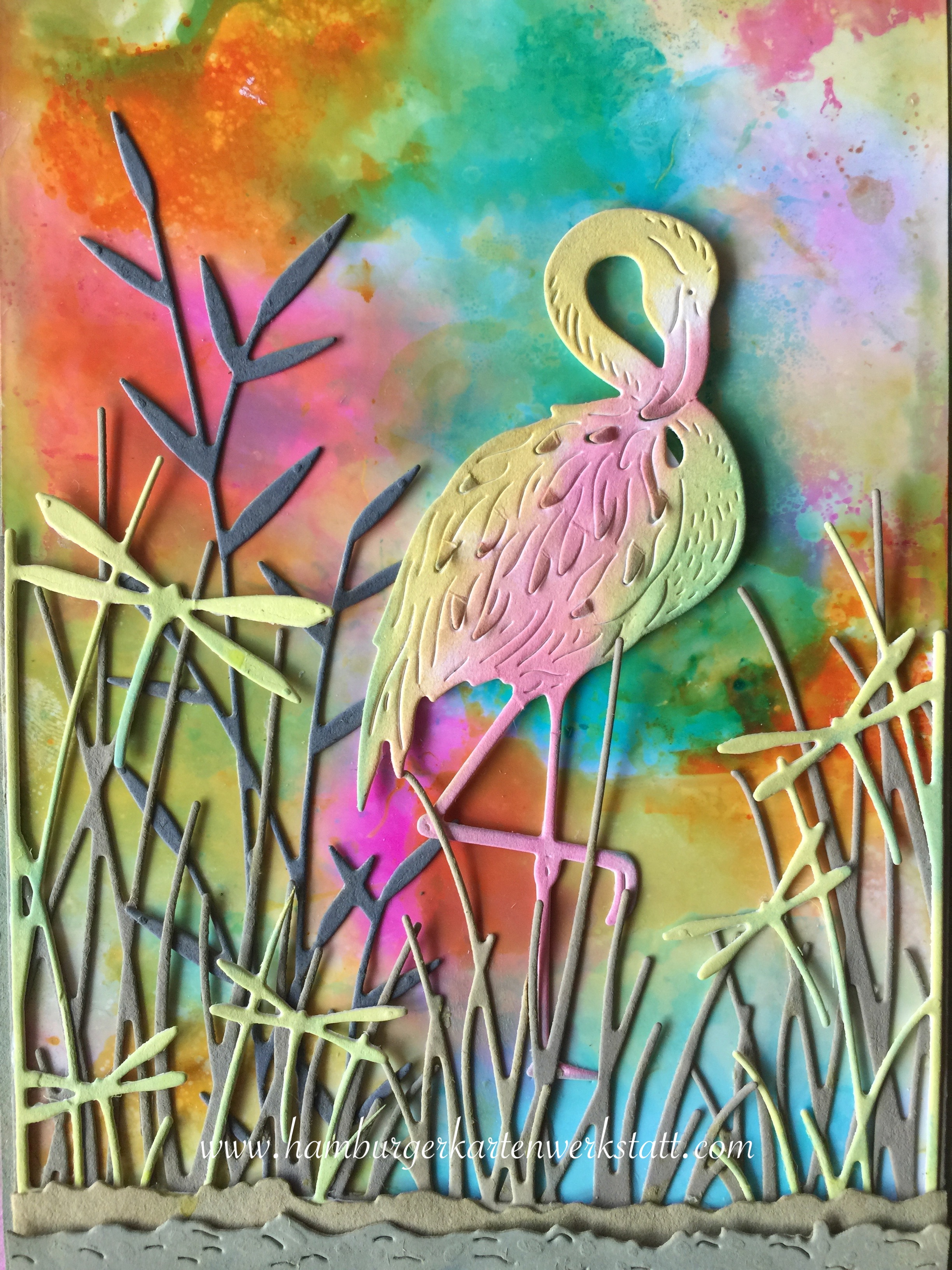 Flamingo - Distress Inks01