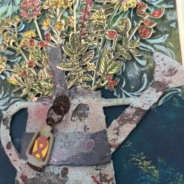 Blumen und Kanne 05